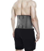QD Knitted Back Support Grey S/M
