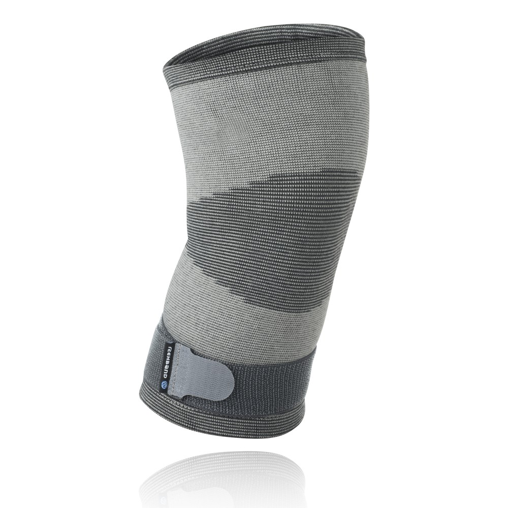 QD Knitted Knee Sleeve Grey L